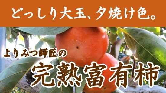 赤井よりみつさんの完熟富有柿